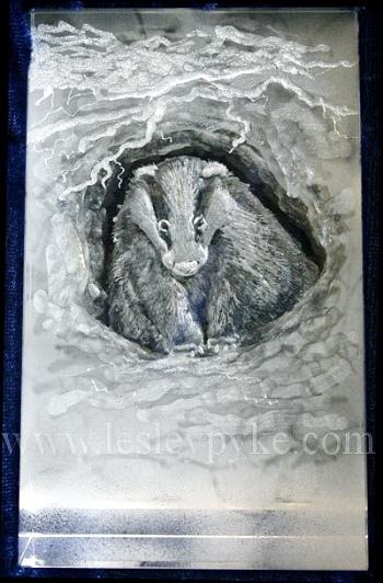 badger-engraved-glass-world-land-trust