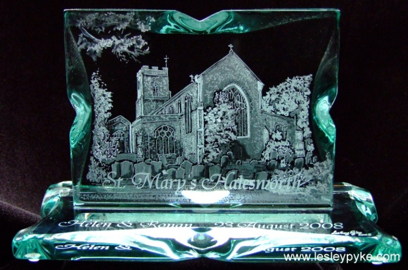 engraved church st Marys, halesworth