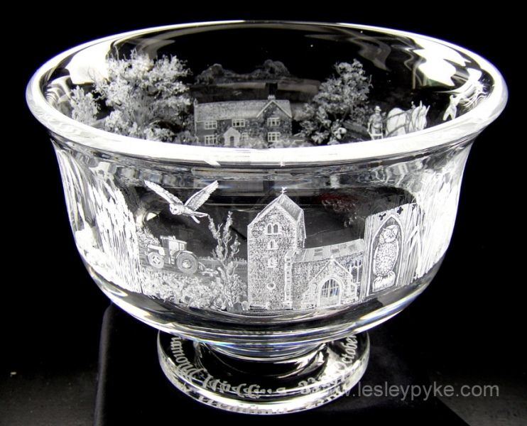 Golden wedding bowl