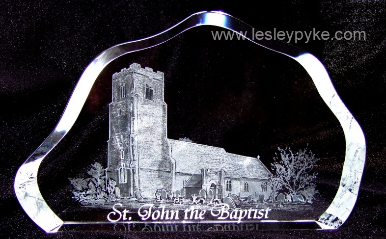 engraved church St John the Baptist