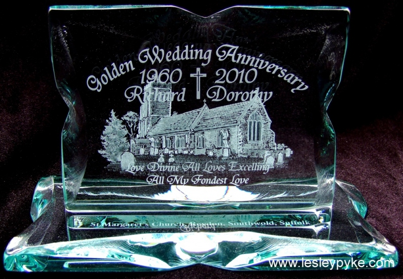 Golden wedding gift
