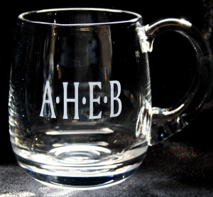 Engraved tankard for a man