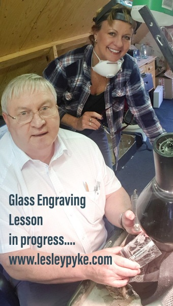 Glass Engraving Student