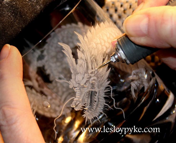 Engraving Japanese Dragon
