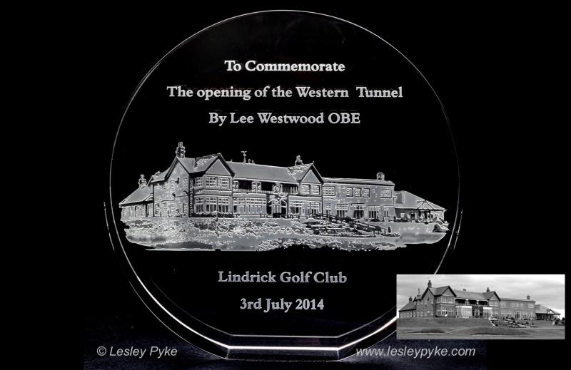 Lindrick Golf Club Presentation to Lee Westwood