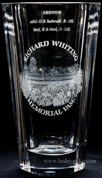 Gold Memorial vase Richard Whiting