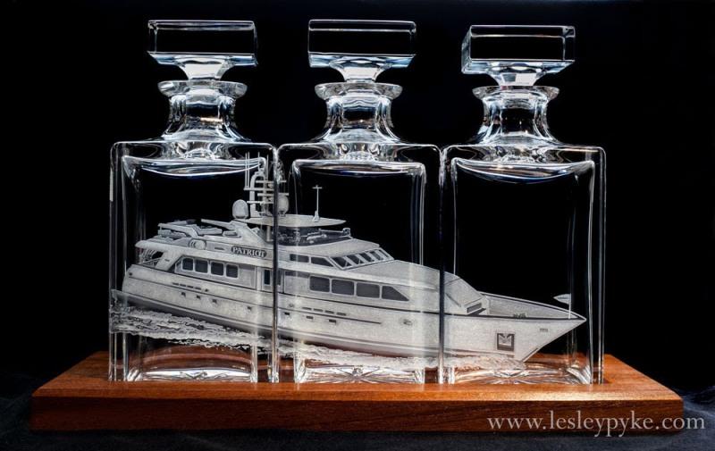 Super Yacht Triptyque decanters