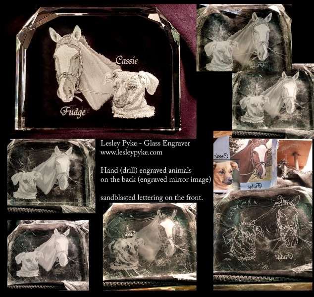 Dog and horse plaque