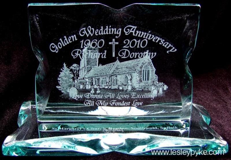 Golden Wedding plaque St Margaret's