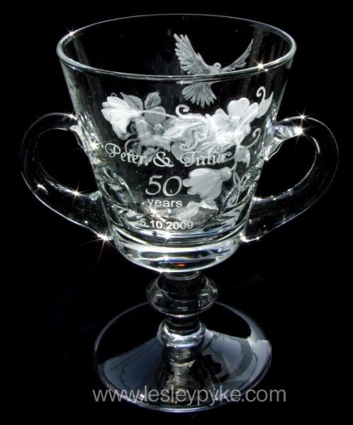 Golden Wedding Loving Cup