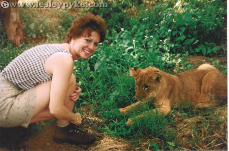 Lesley Pyke at home in Zimbabwe