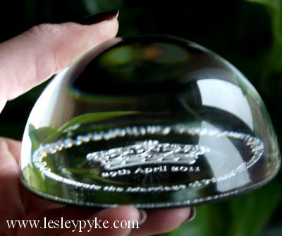 William Kate royal wedding paperweight