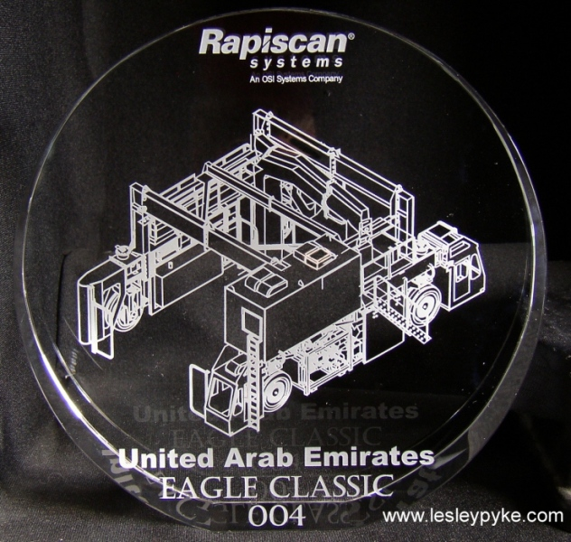 Rapiscan scanner engraved presentation