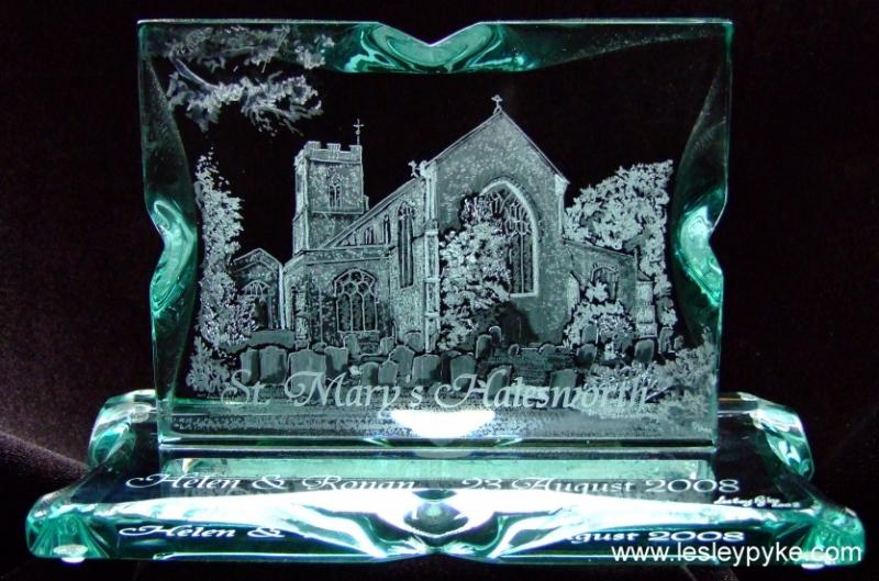 engraved church st Marys, halesworth