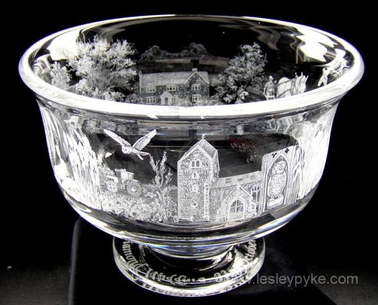 Golden wedding bowl