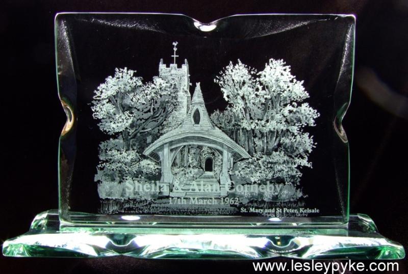 Engraved church