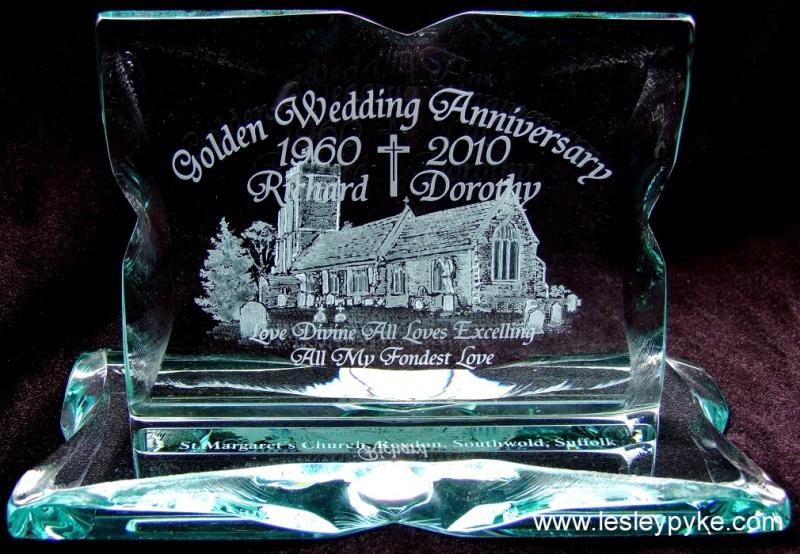 Golden wedding gift