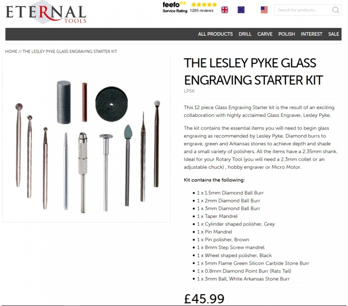 Lesley Pyke Glass Engraving Starter Kit
