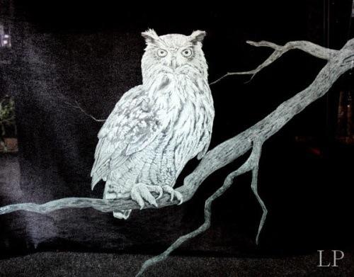 Large owl panel