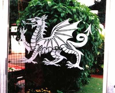 Welsh Dragon on door