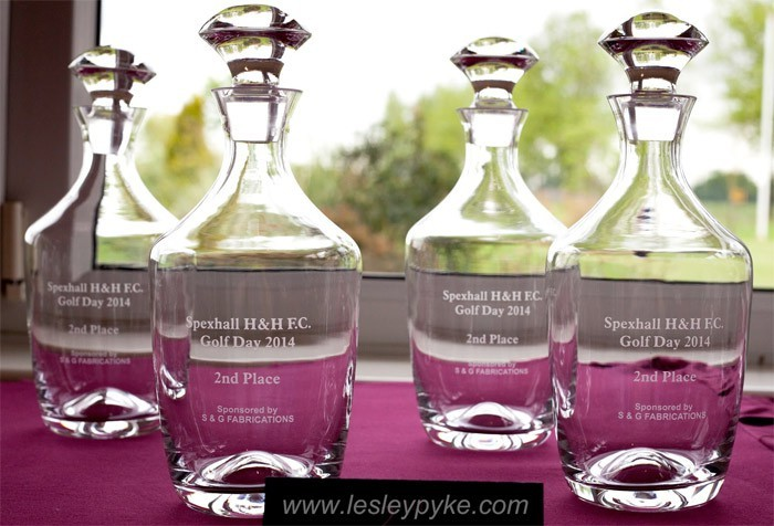 golf prize decanters