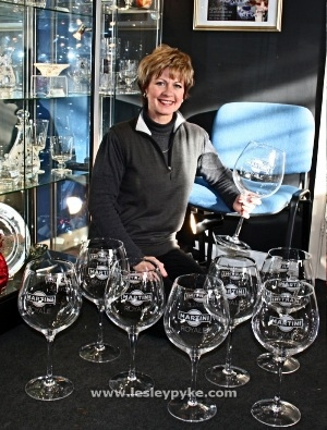 Martini Royale event giant wine glasses