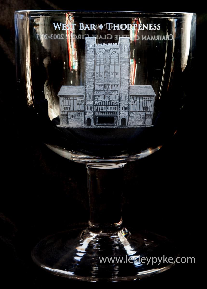 Glass Circle presentation goblet