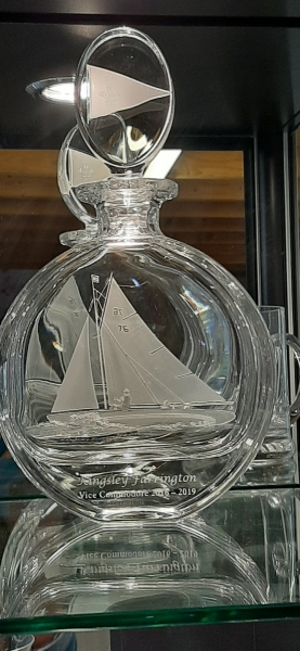 Yacht on decanter