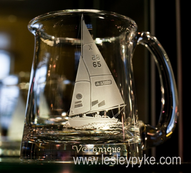 Yacht on tankard