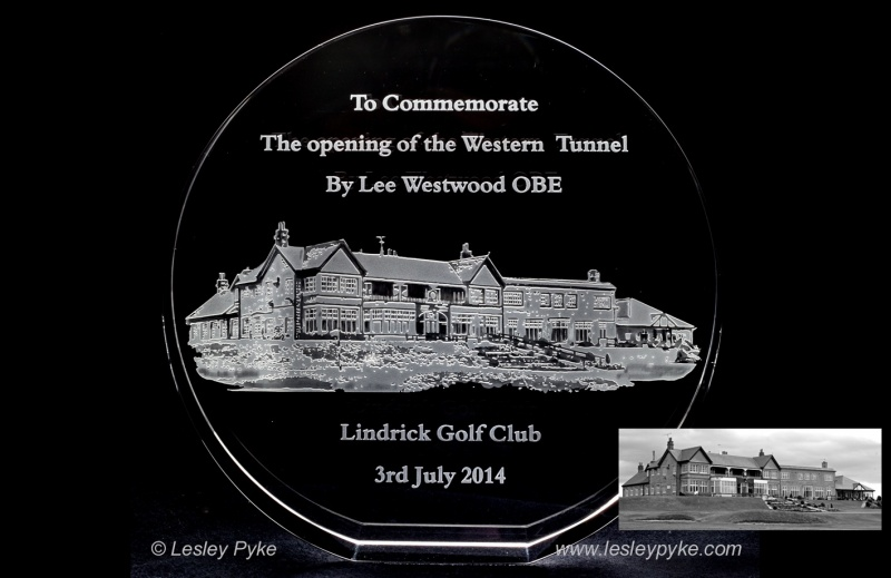 Lindrick Golf Club Presentation to Lee Westwood