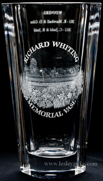 Gold Memorial vase Richard Whiting
