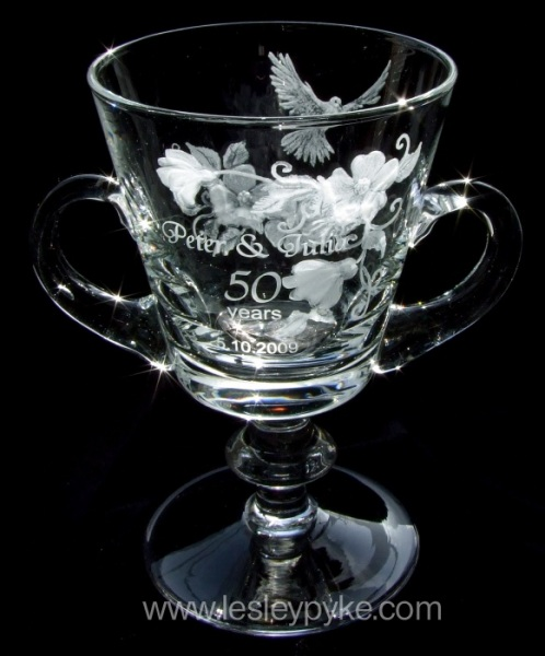 Golden Wedding Loving Cup