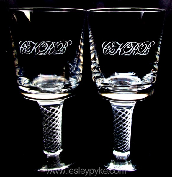 Wedding Goblets, Monogram