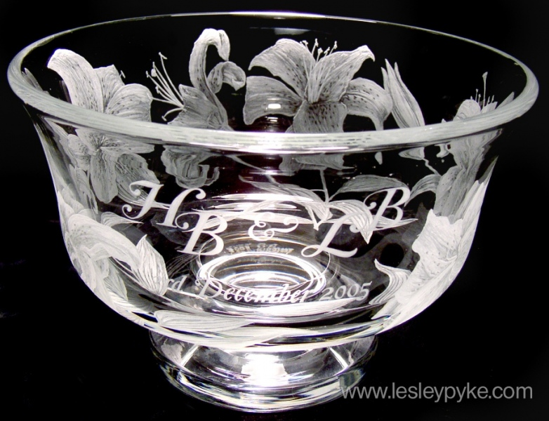 Wedding Bowl, Lilies