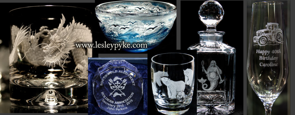 glass engraving selection of themes